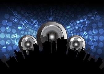 Fundo de música eletrônica