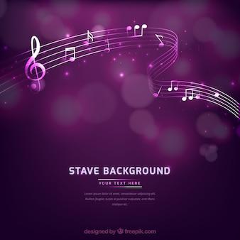 Fundo de música roxa