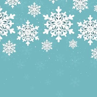 Fundo de natal com desenho de flocos de neve