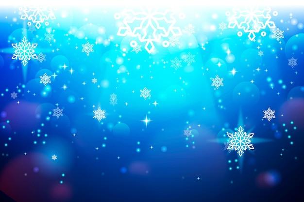 Fundo de natal com elementos cintilantes azuis