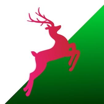 Fundo de natal com reindeer