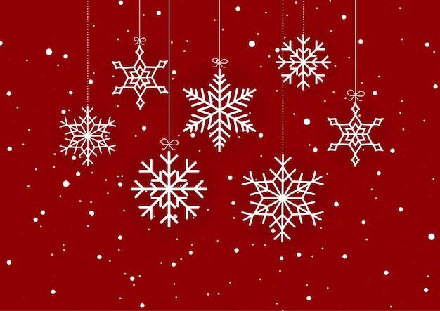Fundo de natal de floco de neve
