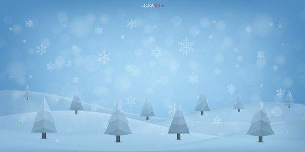 Fundo de natal de inverno elegante