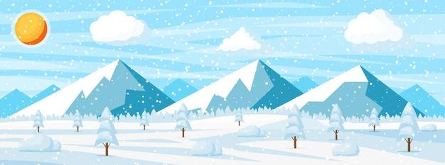 Fundo de natal de inverno.