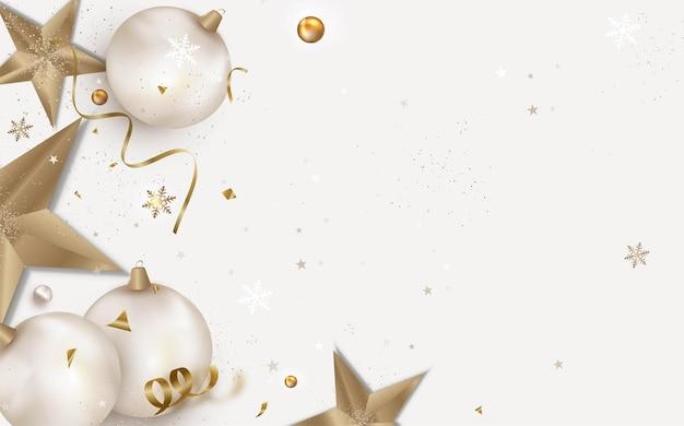Fundo de natal e cartão de feliz ano novo