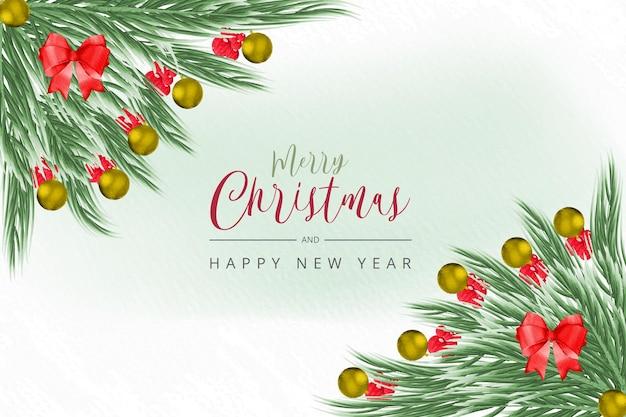 Fundo de natal e feriado cartão de natal fundo de cartão de presentes de natal