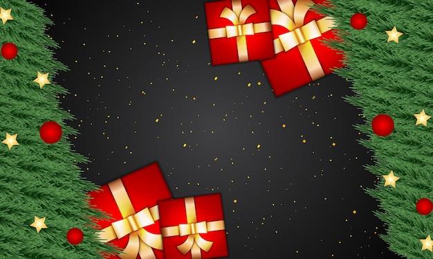 Fundo de natal elegante e luxuoso