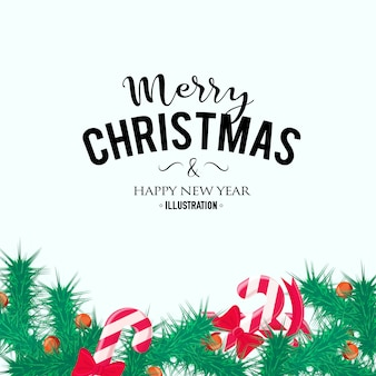 Fundo de natal feliz. elemento de decoração perfeita para cartões, convites e outros
