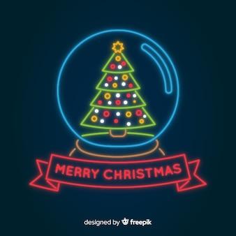 Fundo de natal feliz néon