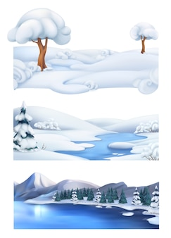 Fundo de natal. paisagem de inverno.