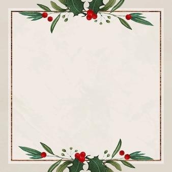 Fundo de natal quadrado festivo em branco