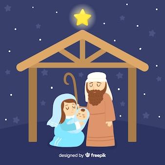 Fundo de natividade noite tranquila