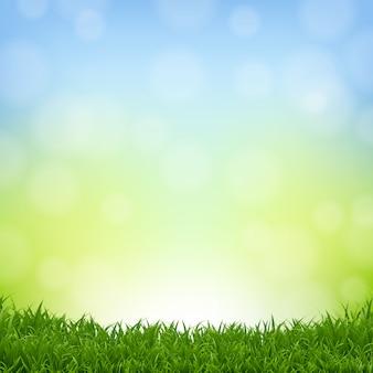 Fundo de natureza com borda de grama