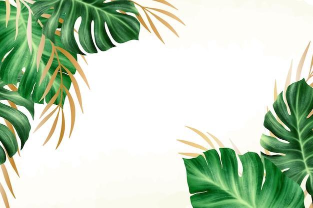 Fundo de natureza com conceito de folha de ouro