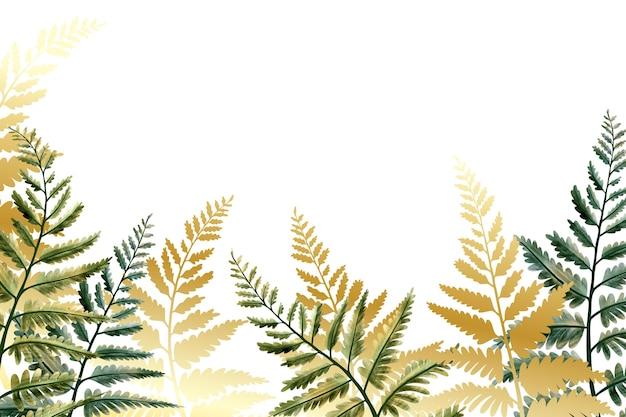Fundo de natureza com estilo folha de ouro