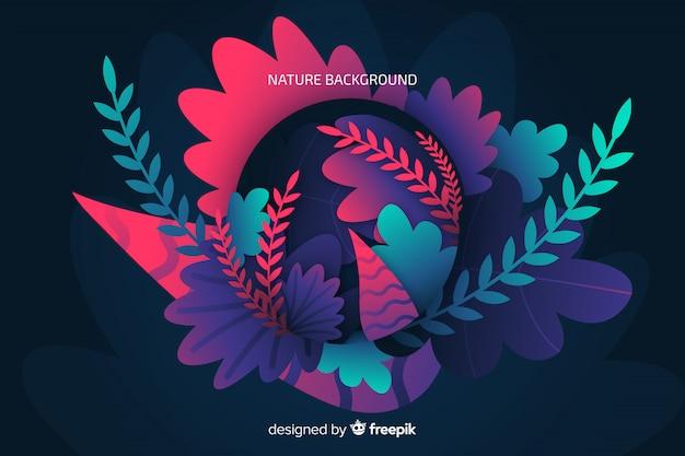 Fundo de natureza com folhas coloridas