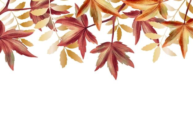 Fundo de natureza com tema de folha de ouro