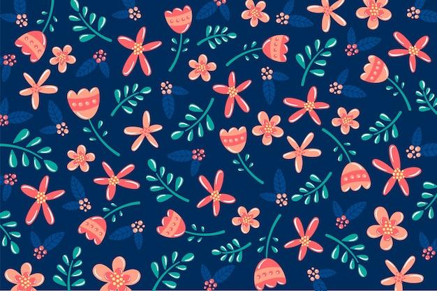 Fundo de natureza de flores coloridas