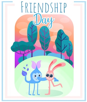 Fundo de natureza dia amizade