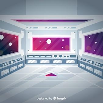 Fundo de nave espacial moderna