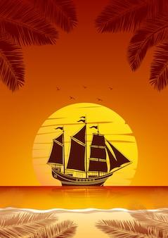 Fundo de navio à vela