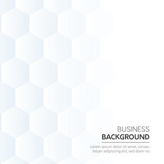 Fundo de negócio branco com formas hexagonais