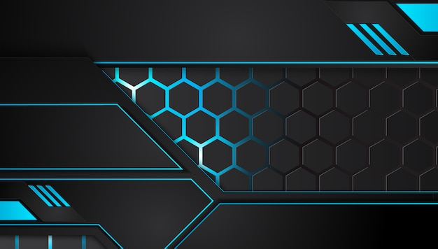 Fundo de negócios abstrato azul e preto