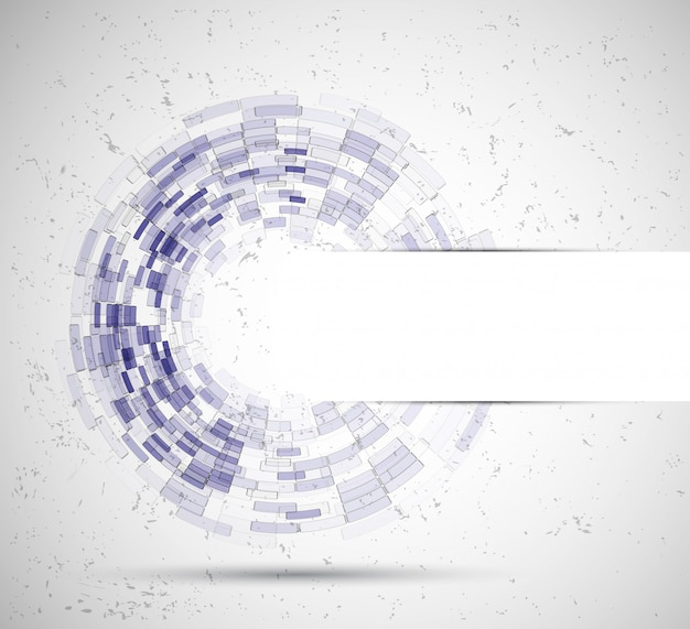 Fundo de negócios de tecnologia de círculo abstrato