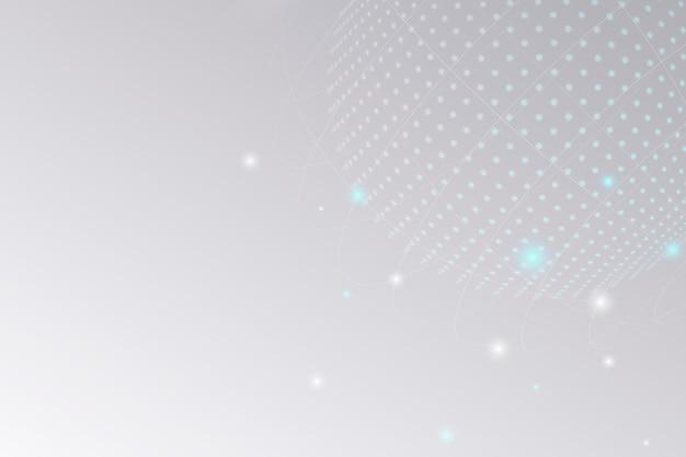 Fundo de negócios de tecnologia de círculo de grade digital