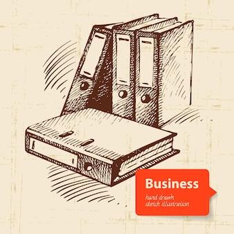 Fundo de negócios desenhado à mão