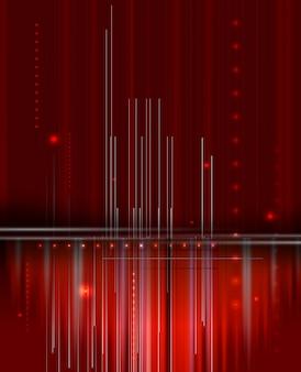 Fundo de negócios futurista abstrato vermelho tecnologia