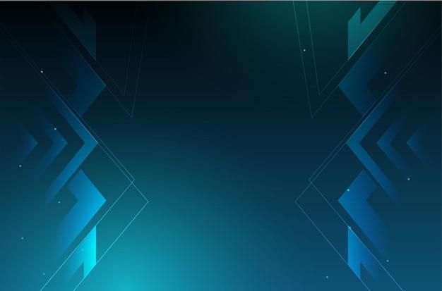 Fundo de negócios moderno com design de tecnologia digital