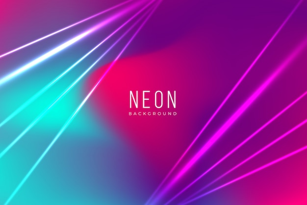 Fundo de néon colorido com efeitos de luz