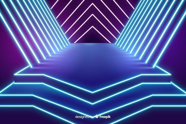 Fundo de néon de luzes de palco