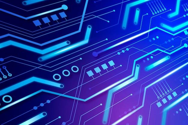Fundo de néon de placa de circuito
