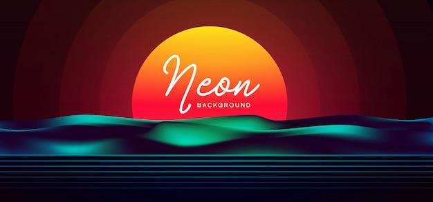 Fundo de néon elegante