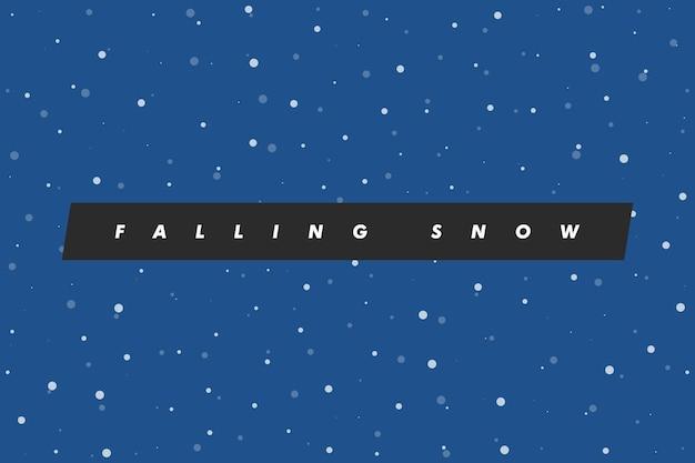 Fundo de neve caindo. ilustração vetorial com flocos de neve. céu nevando de inverno