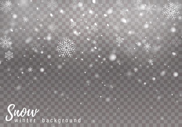 Fundo de neve caindo