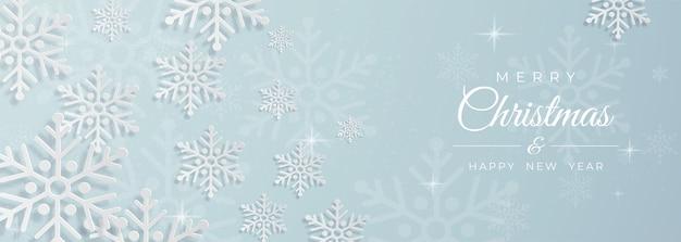 Fundo de neve. conjunto de cartões de natal