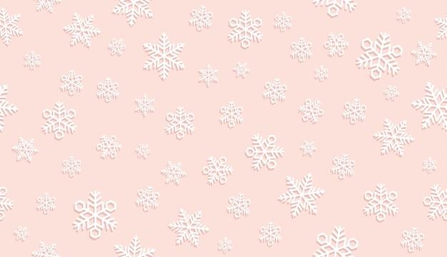 Fundo de neve festiva sem emenda.