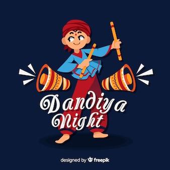 Fundo de noite dandiya