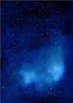 Fundo de noite estrelada de galáxia em aquarela