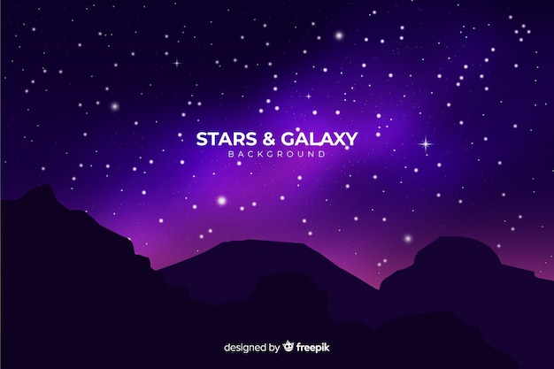 Fundo de noite estrelada realista