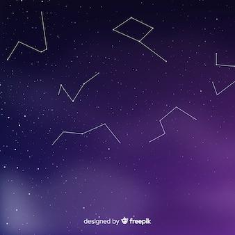 Fundo de noite estrelada