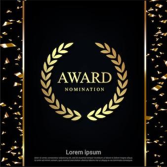 Fundo de nomeação de prêmio de luxo.