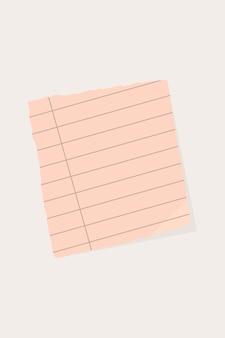 Fundo de nota de papel rasgado