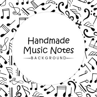 Fundo de notas de música