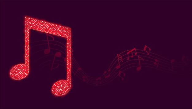 Fundo de notas musicais com onda sonora