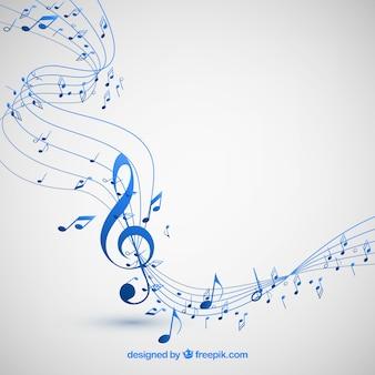 Fundo de notas musicais