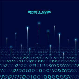 Fundo de números de código binário digital